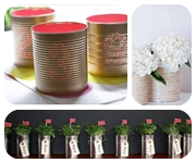 Tin Can Decor Wedding